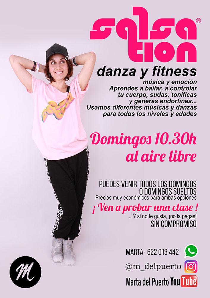 Clases Salsation Fitness al aire libre Marta del puerto Alcalá de Henares